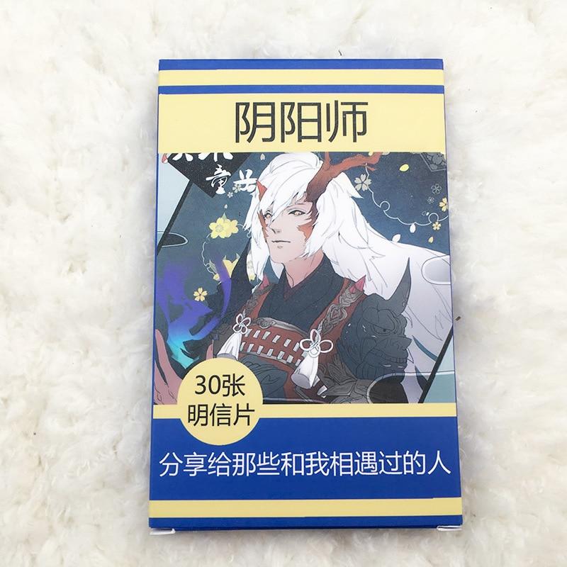 30 Sheets/Set Game Onmyoji Postcard/Greeting Card/Message Card/Birthday Letter Envelope Gift Card