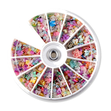 1200PCS rhinestones  decorations IY Colorful Pearl 8mm Nail Art Tips Studs Glitter Wheel 3D Floral Bow Butterfly Nails Art Tools