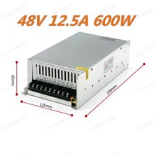 Free Shipping 600W 48V 12.5A  Switching Power Supply Driver for Monitor camera/LED Strip AC110V 220V  Input to DC 48V