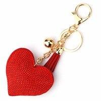 JKP 2017 חדש ציצית האופנה שרשרת מפתח לב אפרסק אהבה משלוח חינם טבעת מפתח תליון טלפון נייד שקית מתנה מעולה GS-13