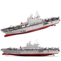 Remote control military affairs model HT 3833 super large 75cm 2.4G 4ch 1:275 RC Mothership amphibious assault ship RC boat toy