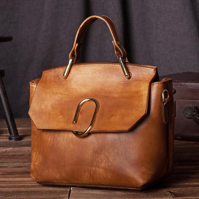 ФОТО Genuine Leather Women Handbag High quality Cowhide Vintage female Shoulder bag Fashion Cool ladies tote messenger Bags