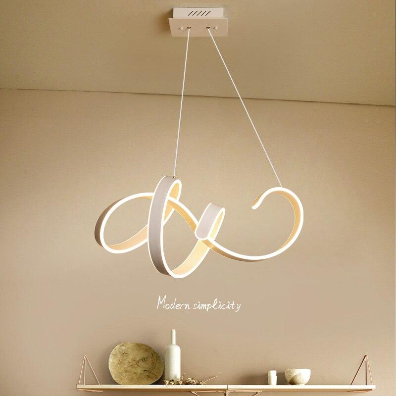Минимализм DIY висит современные светодиодные подвесные светильники для Обеденная бар Подвеска светильник suspendu Подвеска лампа Светильник