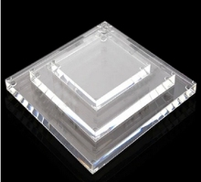3pcs/set High quality acrylic clear display base plexiglass panel square sheets accept customized