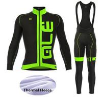ALE Cycling Set Winter Thermal Fleece Long Sleeves Cycling Jerseys Ropa Maillot Ciclismo Bicycle MTB Bike