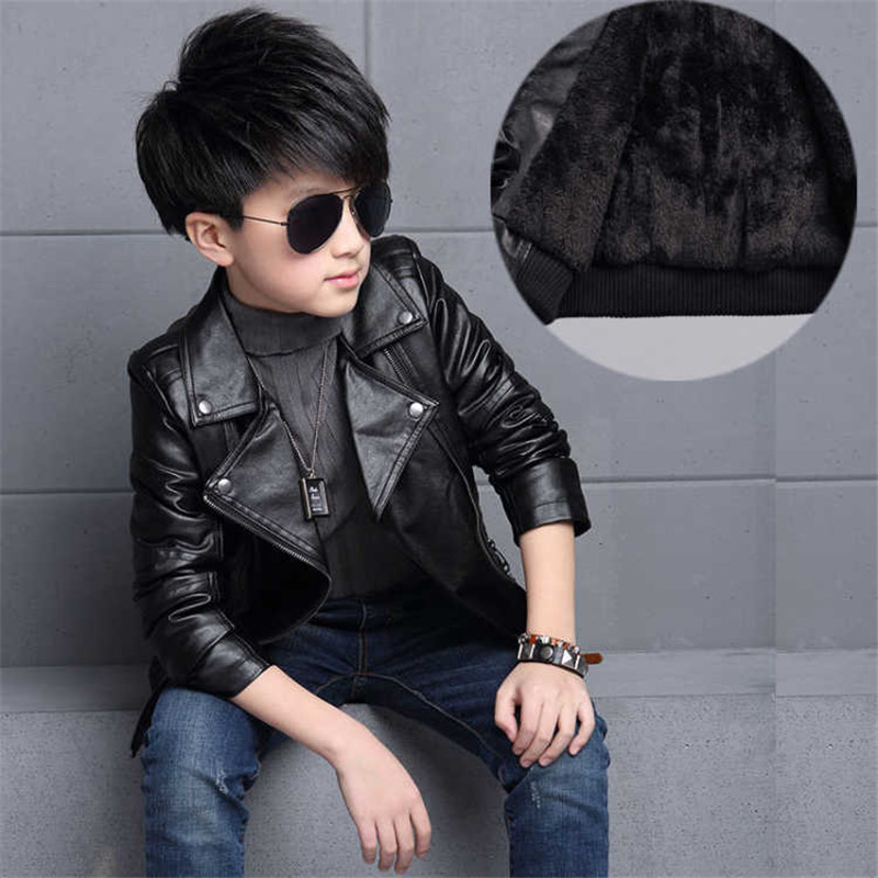 Floral Kids Clothes Baby Coats Boys Leather Jackets 2018 Fashion Autumn Fashion Zipper Jackets For Boy Children Clothing 3jk133