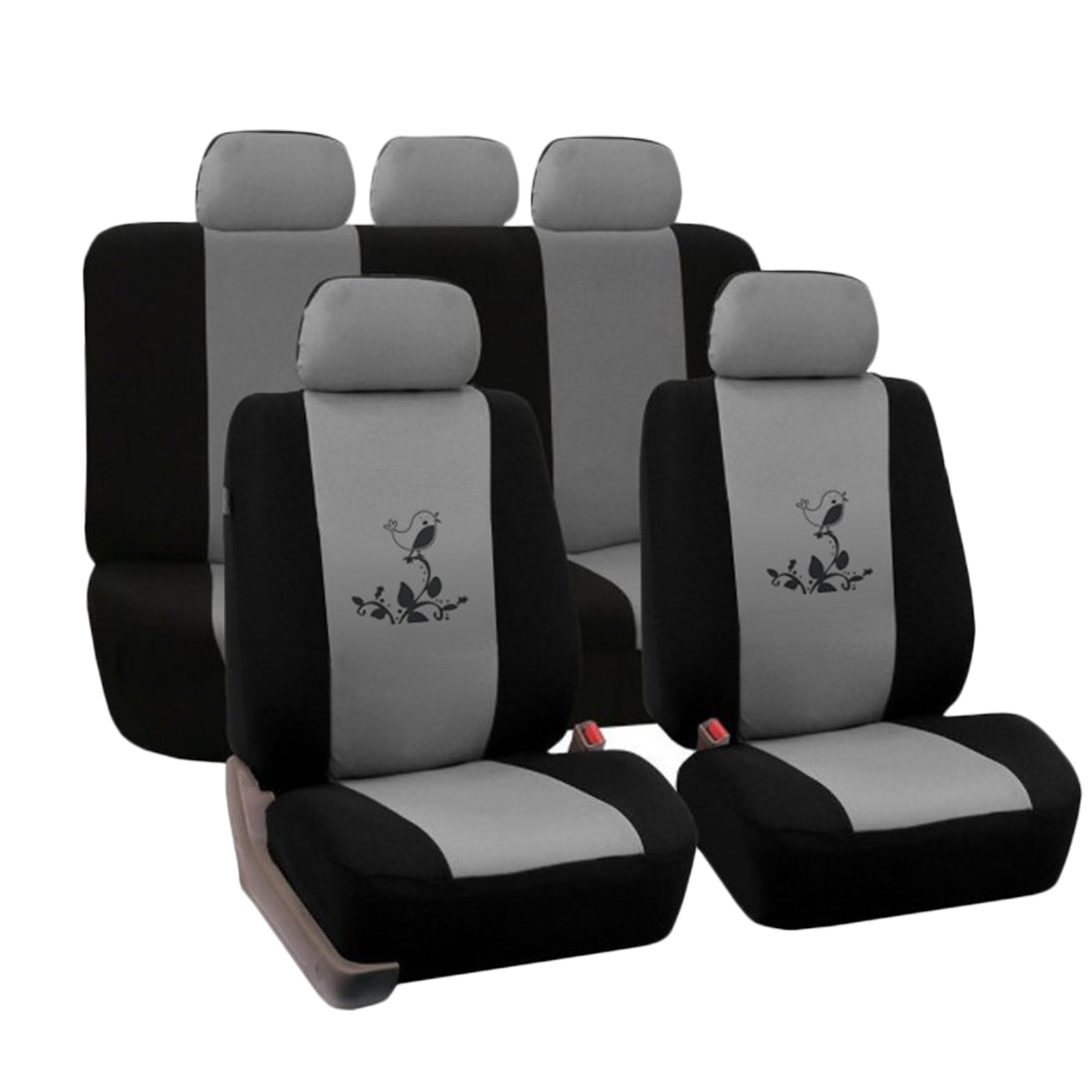 Dewtreetali Four Seasons Car Seat Cover Printing Pattern Universal Car Seat Protector Interior Accessories for Volkswagen BMW dewtreetali universal automoblies seat cover four seaons car seat protector full set car accessories car styling for vw bmw audi
