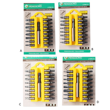 Hot 17pcs/lot 1/4″ 25mm Slotted Torx Screwdriver Bits S2 Material Electric Screwdriver Head Power Driver Tools P5