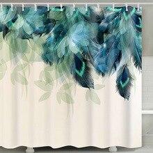 바다 인쇄 방수 샤워 커튼 폴리 에스터 직물 목욕 커튼 문 어 빨 수있는 홈 목욕 장식 커튼 12 후크