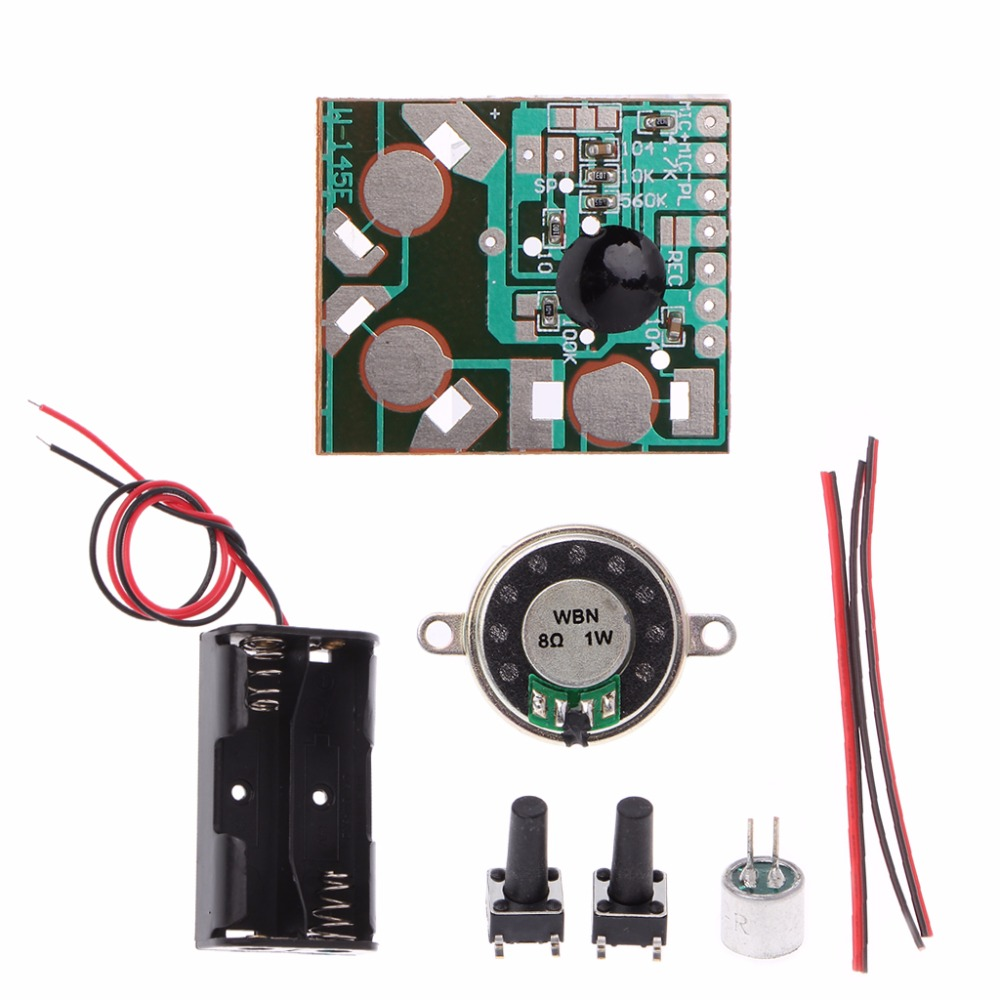 Voice Recorder DIY Kit Electronic Kit Recording IC Module Mini Digital Chip Recorder Music Card Integrated Circuits Drop Ship