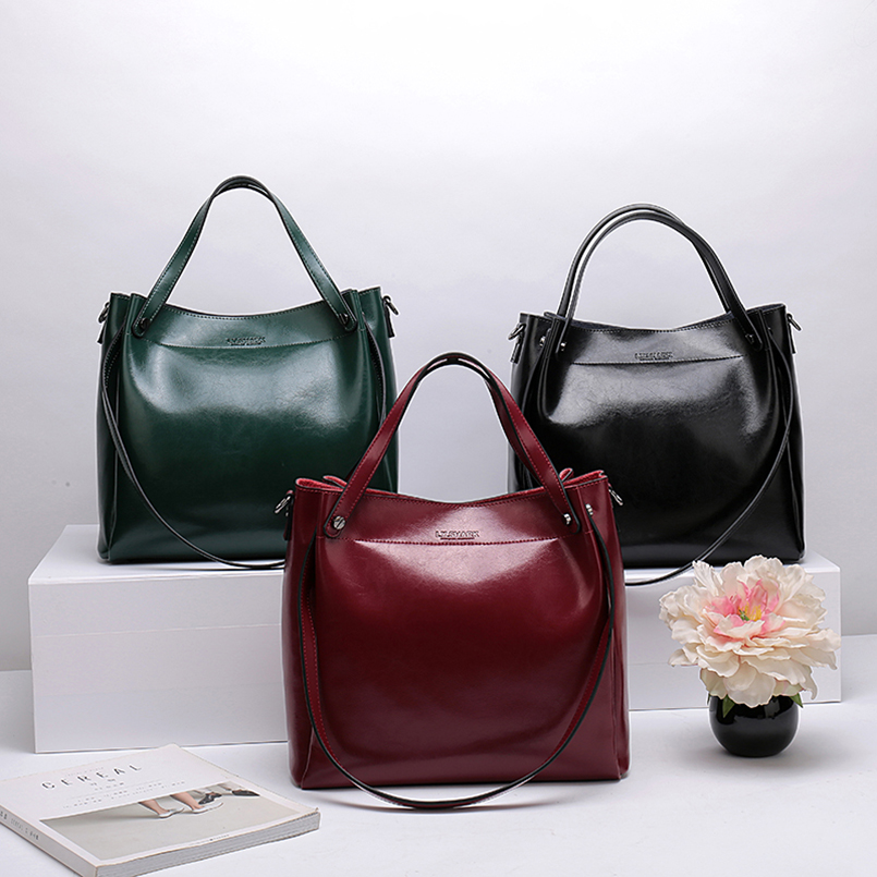 Image 5 - LY.SHARK Ladies' Genuine Leather Handbag Shoulder Bag Female Women's Handbags Bags For Women 2019 Crossbody Bags For Women-in Shoulder Bags from Luggage & Bags