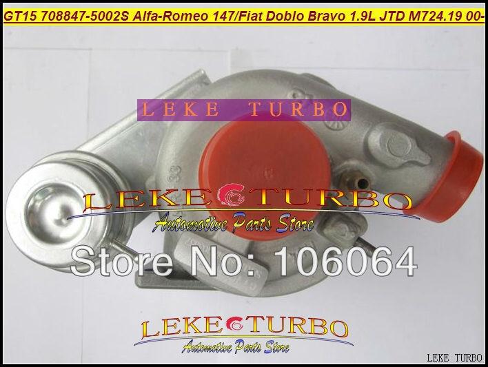 Free Ship GT1444S 708847-5002S 708847-0002 708847 Turbo Turbocharger For Alfa Romeo 147 For Fiat Bravo Doblo M724 M724.19 1.9L free ship gt2052s 703389 0001 703389 0002 28230 41450 703389 turbo turbocharger for hyundai might truck chrorus hd72 d4al 3 3l