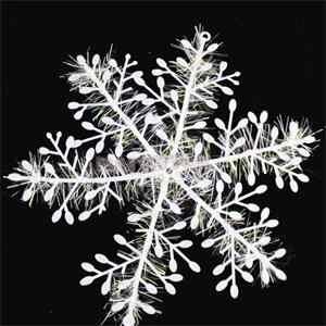 15pcs11cm Kerst Witte Kunstmatige Sneeuw & Sneeuwvlokken Plastic Charms Boom Decoratie Voor Party Home Office Festival Ornamenten