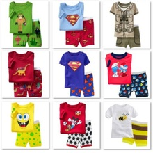 Character font b Children b font Pajamas Sets 2016 Summer Short Pyjamas Boys clothes Pijama Suit
