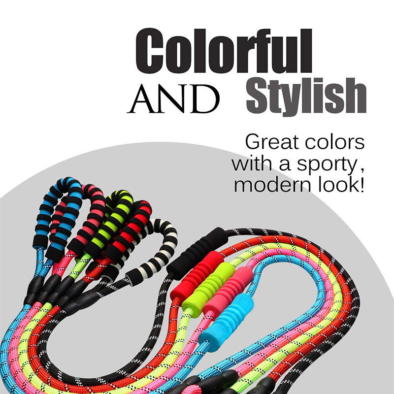 Quality Thick Nylon Reflective Dog Leash Rope For Small Large Dogs Leashes Rope Pet Lead Dog Collar Harness Nylon Running Leash in Leashes from Home Garden