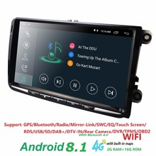 Car Multimedia for Volkswagen GOLF PASSAT B6 B5 POLO CC TIGUAN OCTAVIA CAR NODVD 4G WIFI 9 inch Android 8.1 Quad Core RDS DVR BT