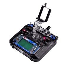 Fpv monitor do telefone móvel holderdisplay suporte de montagem clipe dji frsky FS i6 jr futaba jr radiolink at9 rc transmissor
