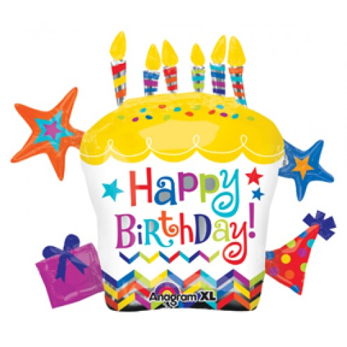 2 Teile Los Anagramm Cartoon Happy Birthday Cupcake Stern