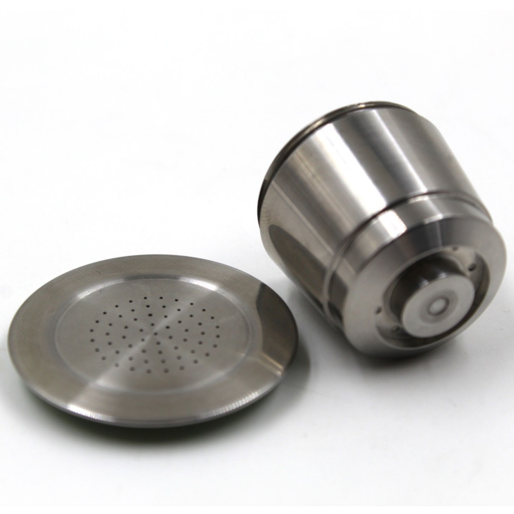 usa sell reusable stainless steel nespresso machine compatible capsule refillable fast delivery