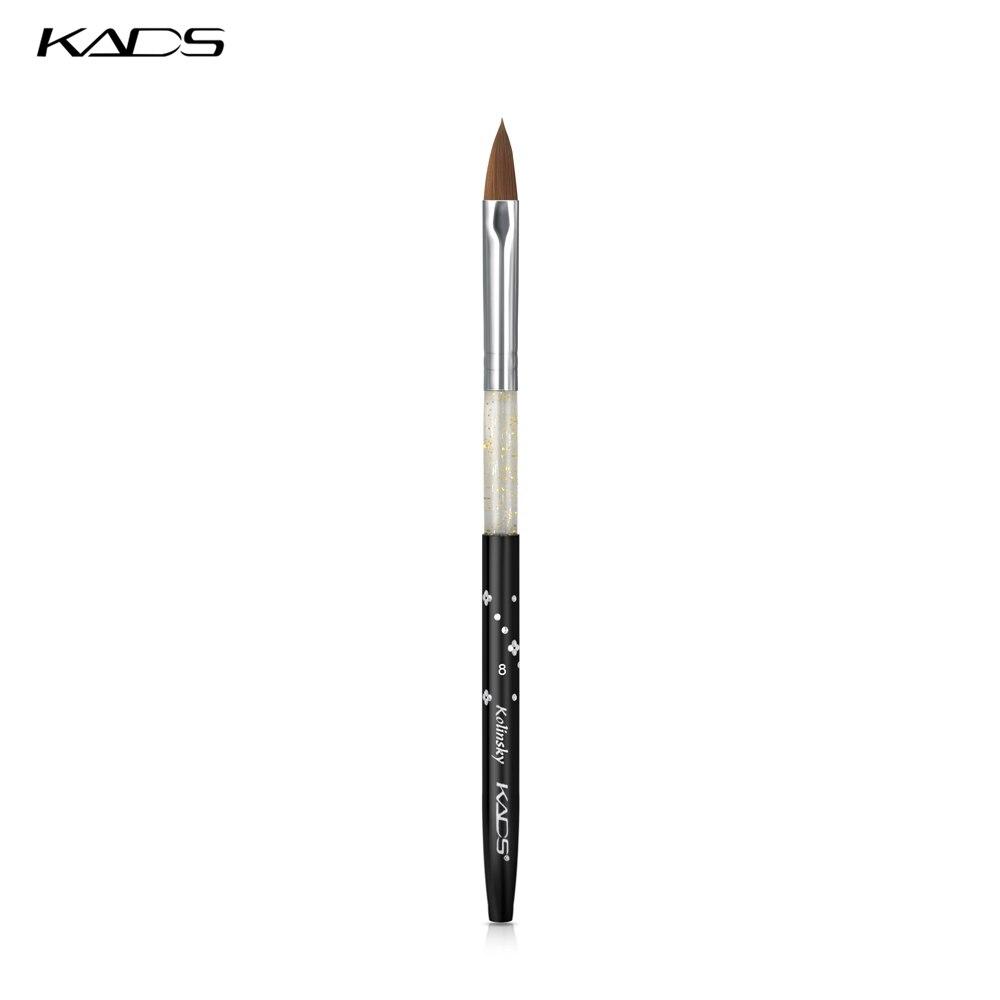100 pièces noir Kolinsky Sable brosse manucure stylo pour Kolinsky acrylique ongles brosse Kolinsky 8 # ongles brosse conception Poly Gel brosse