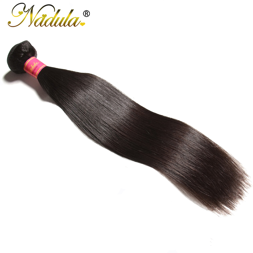 Nadula Hair 1 Bundle Indian Hair Straight Human Hair Weaves 8-30inch Remy Hair Extensions Natural Color  Free Shipping