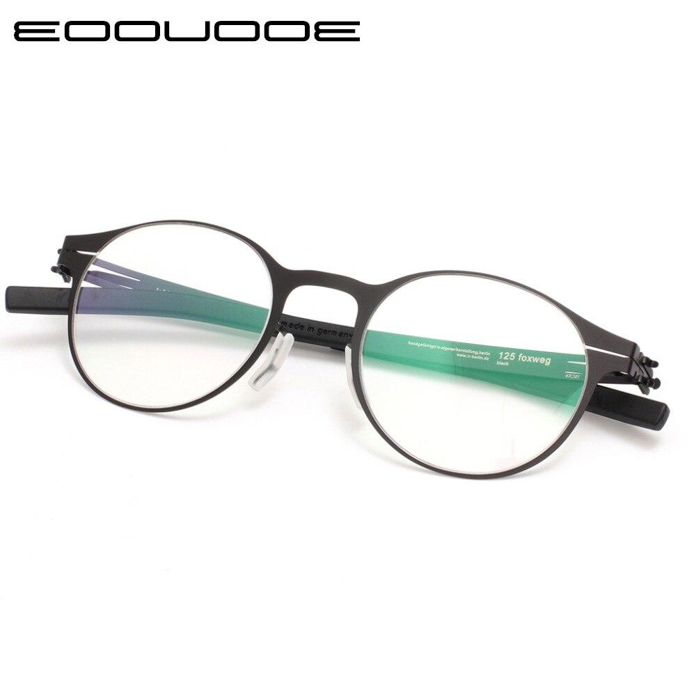 Haute qualité IC conception Unique marque lunettes cadre hommes et femmes Ultra-léger Ultra-mince lunettes cadres lunettes de Prescription