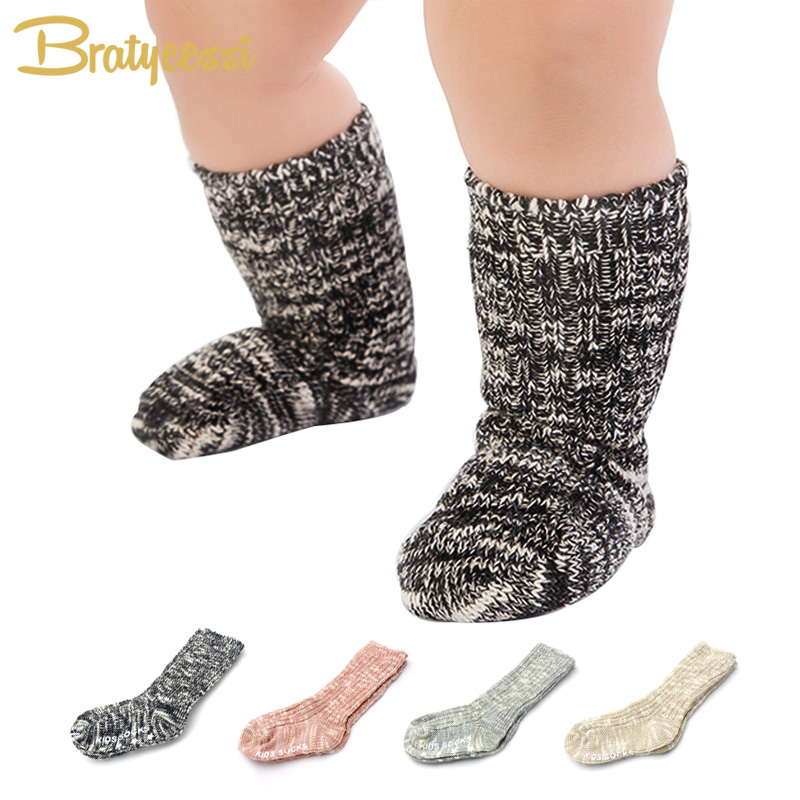 Mix Color Cotton Baby Socks for Girls Boys Children Socks Ankle Length Thick Winter Infant Calcetines 1 Pair for 0-4 Years one set winter thick socks
