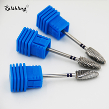 Hot Sale Bullet Nail Drill Bit Made of Stainless Steel Electric drilling machine Nail Gel Polish Removal Accessories Tool