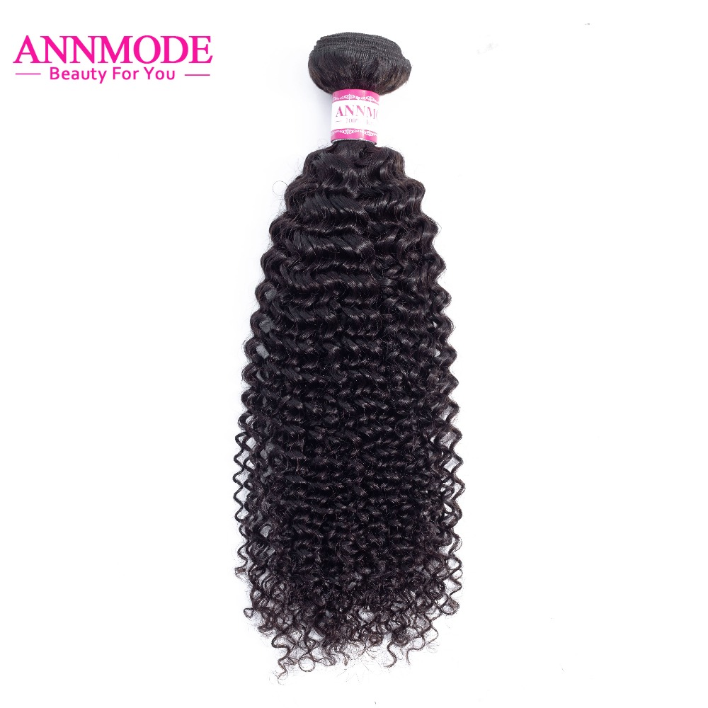 Malaysian Afro Kinky Curly Hair Bundles 1 Bundle Free Shipping Natural Color 100% Human Hair Non Remy Hair Extensions Annmode