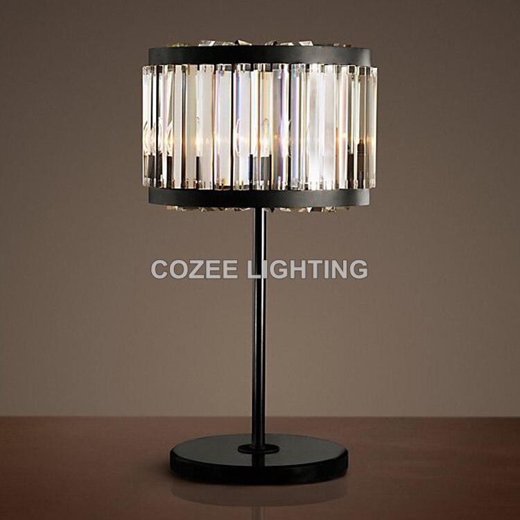 ᐂluxury Vintage Crystal Table Lamp Classic Desk Light Cristal Table