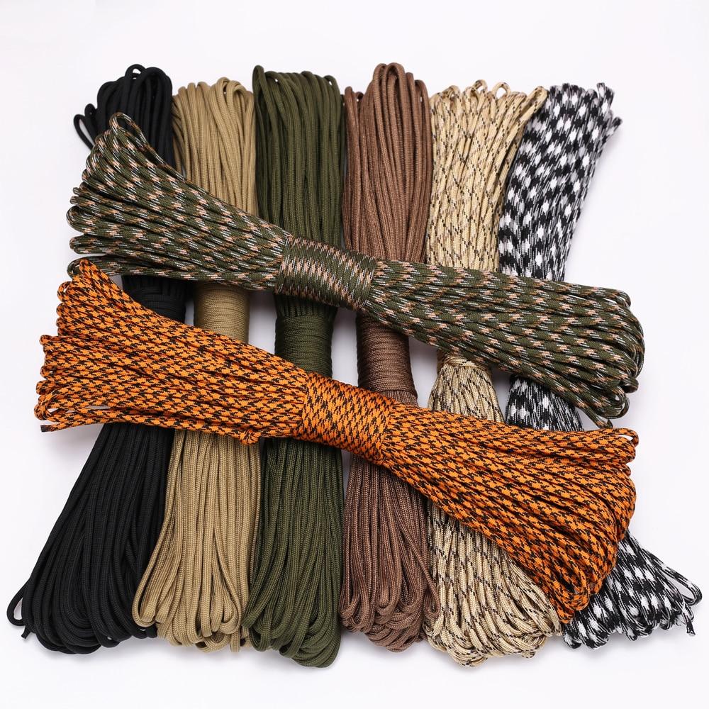 حبل باراكورد مكون من 4 مقاسات Dia.4مم 9 مزود بحبل للنجاة ومظلات حبل تسلق للتخييم والتخييم والتنزه حبل غسيل