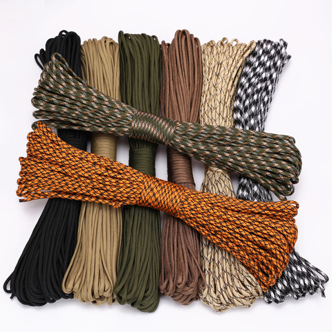 4 Size Dia.4mm 9 stand Cores Paracord for Survival Parachute Cord Lanyard Camping Climbing Camping Rope Hiking Clothesline Pakistan