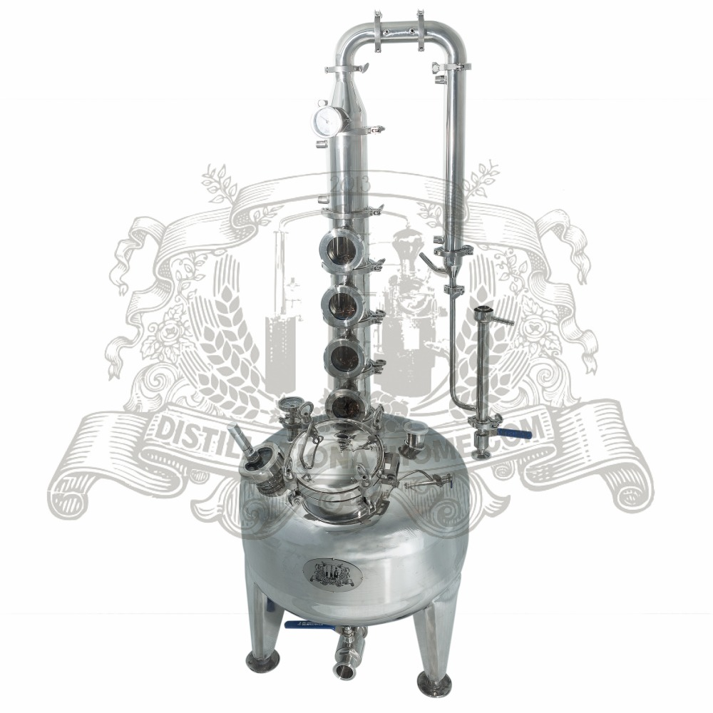 100-200l Kit for distillation. Stainless steel column with copper bubble plates. home distiller 4 stainless column with copper bubble plates