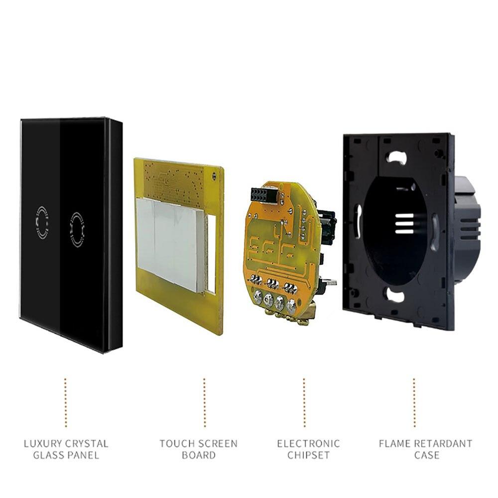 Interruptores e Relés tlink interruptor leve toque padrão Modelo Número : eu Standard 2 Way