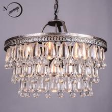 خمر قطرات زجاج كبير Led كريستال صلب Lustres الثريات المعلقات الحديثة E14 مصباح معلق للمطبخ غرفة المعيشة غرفة نوم