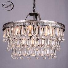 Vintage Grote Glazen Druppels Led Crystal Iron Lustres Kroonluchters Hangers Moderne E14 Opknoping Lamp Voor Keuken Woonkamer Slaapkamer