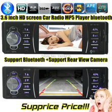 HOT  NEW 12V Car MP5 Player Car Radio Stereo Player 4.0 HD Bluetooth/Rear view/Stereo FM Radio/MP3/MP4/Audio/Video/USB/SD