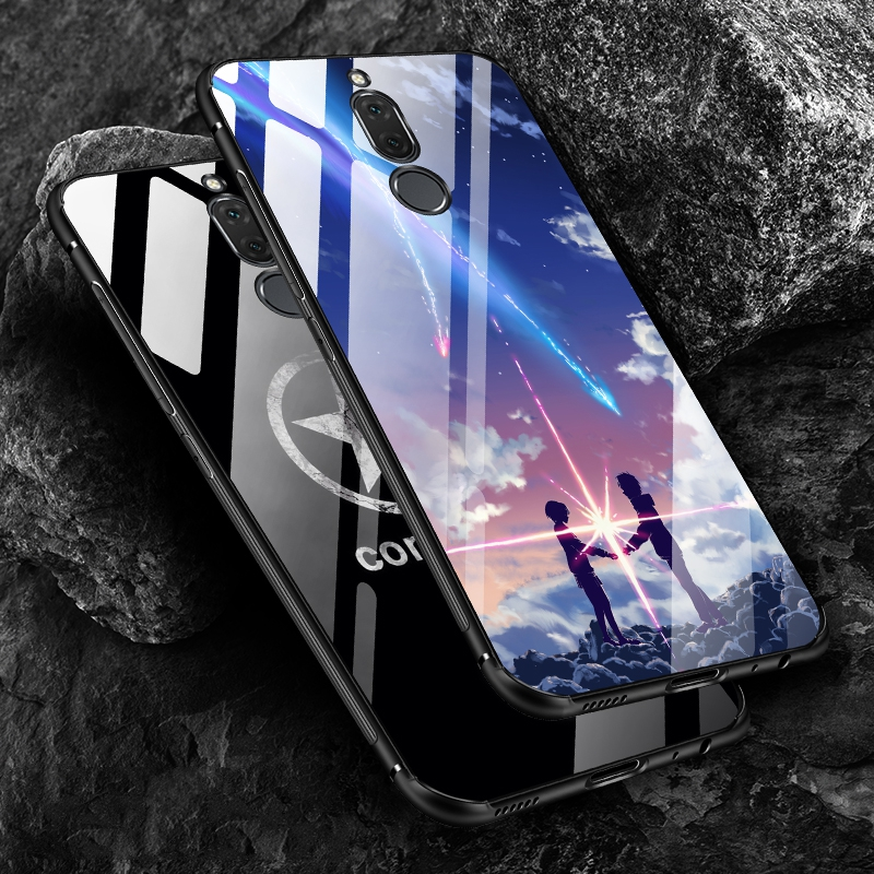 Luxury Slim Case For Huawei Mate 10 Lite Full Protective Wolf TPU Silicon &Amp; Tempered Glass Back Cover For Huawei Nova 2I