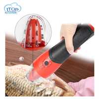 Handheld Fish Scaler Plastic Waterproof Wireless Automatic Kitchen Fish Cleaner 1.3 AH LI ON Battery