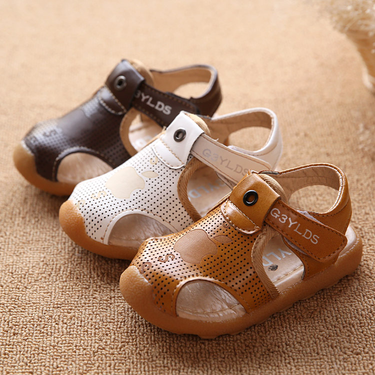 db21fcd54709 2016 New Summer Children Shoes Boy Fashion Cool Sandals PU Leather Non slip Kids  Baby Beach Toddler Shoes-in Sandals from Mother   Kids on Aliexpress.com ...