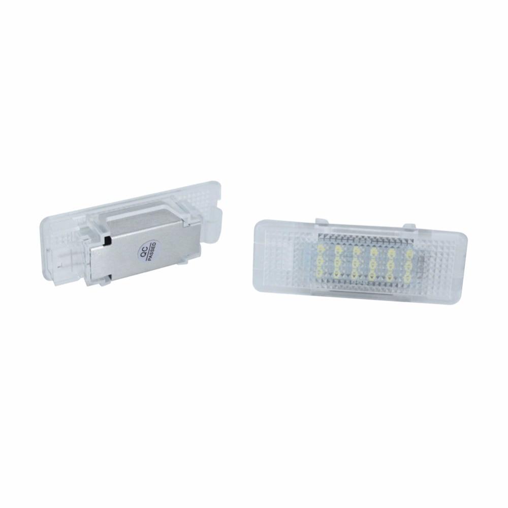 2PCS Error Free 18 LED Courtesy Footwell Under Door Lamp Interior Bulbs Lights Auto ACCESSORIES for BMW E39 E53 X5 E52 Z8 led qty 4 interior footwell lights