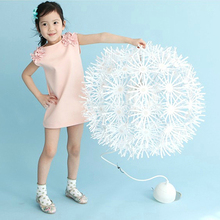 2017 Toddler Baby font b Dress b font Kid Girls Sleeveless Flower Princess font b Dresses