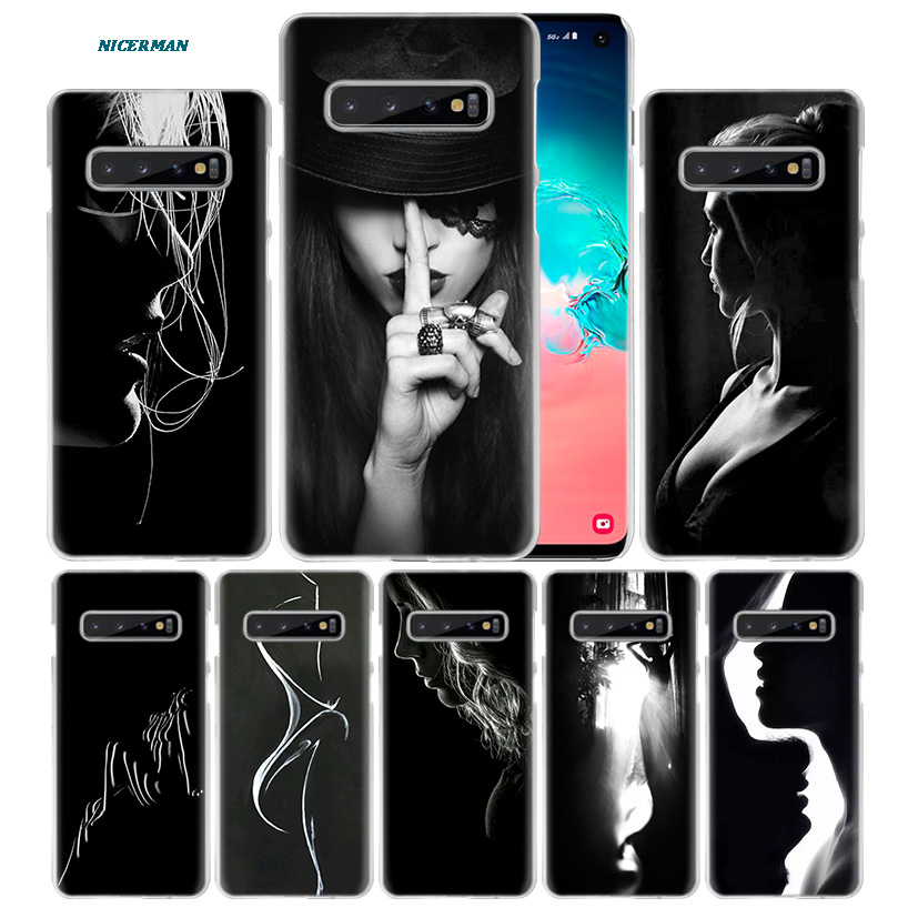 Sexy Girls Art Paint Case for Samsung Galaxy S10 5G S10e S9 S8 M30 M20 M10 J4 J6 Plus J8 2018 Note 8 9 Clear Hard PC Phone Cover