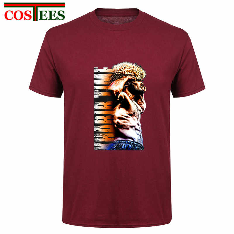 UFC Hope Star Fighter Khabib Nurmagomedov t-shirt mannen Khabib Tijd De Adelaar in Kleur Illustraties T-shirt MMA Streetwear tshirt