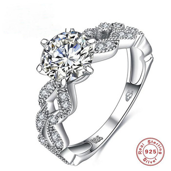 2018 Top Fashion Silver 925 Jewelry Ring Bridal Engagement Band Diamond Rings Fine Jewelry