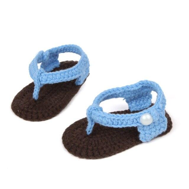 a1bff4d57 Baby girls boys shoes sandals summer 2018 Crib Crochet Baby Girls Boys  Handmade Knit Flip flops