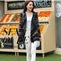 Mujeres Sueltan Más El Tamaño de Otoño de La Moda de Primavera Suéter de Punto Chal Femenina de Impresión de Punto de la Rebeca Outwear Dama Poncho Wrap