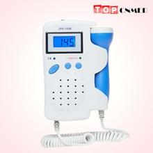 ทารกในครรภ์ Doppler 2.5MHz จอแสดงผล LCD Ultrasound Prenatal Monitor FHR เครื่องตรวจจับแบตเตอรี่ & Charger