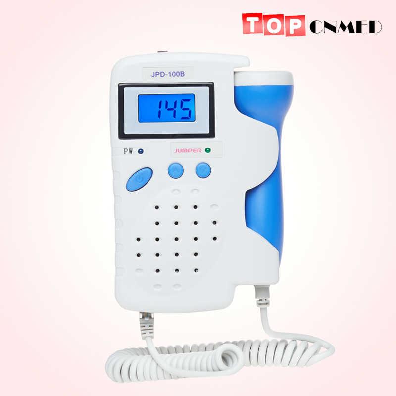 Fetal Doppler 2.5MHz Probe LCD Display Ultrasound Prenatal Monitor Fhr Detektor Baterai Isi Ulang dan Charger