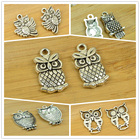 alloy owl DIY charm small size vintage antique silver animal bird shape jewerly accessories making findings free shipping